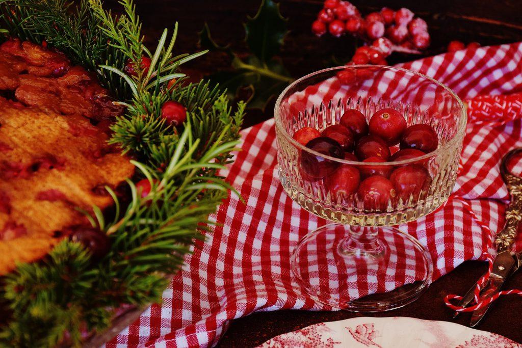 Cranberry-Kuchen mit frischen Cranberries und feiner Orangennote