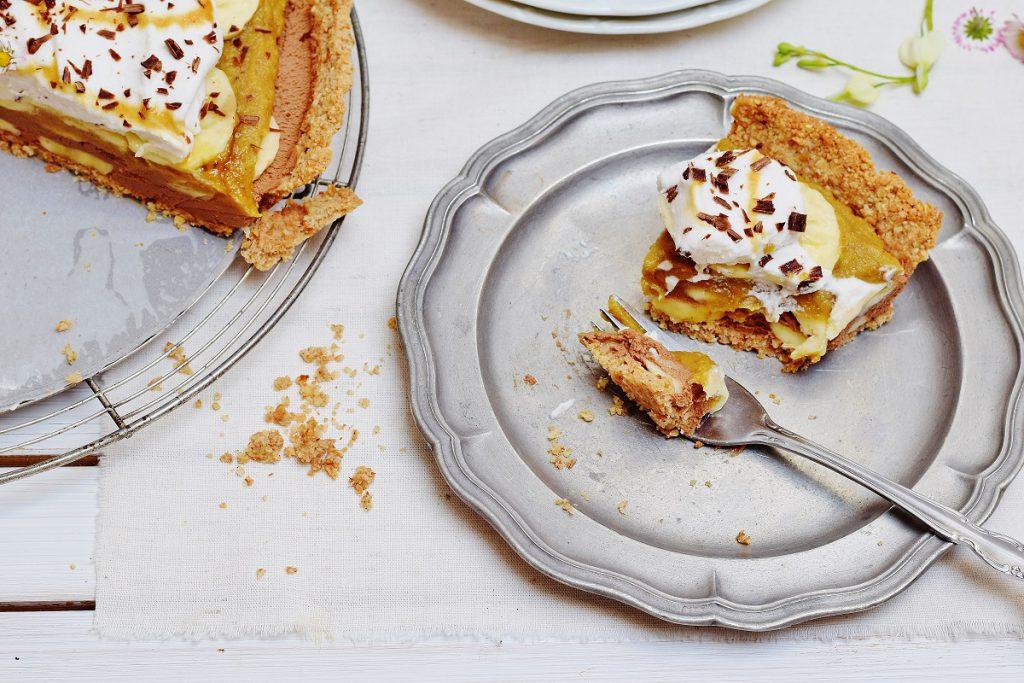 Banoffee Pie mit Datteln und Schokolade