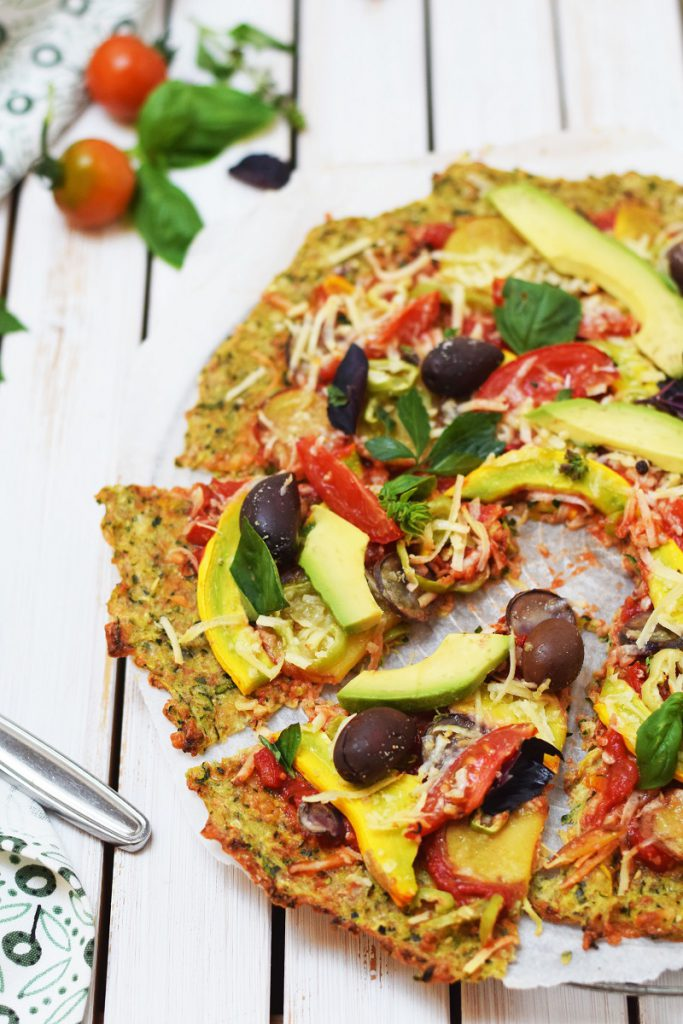 Low Carb Zucchini-Pizza