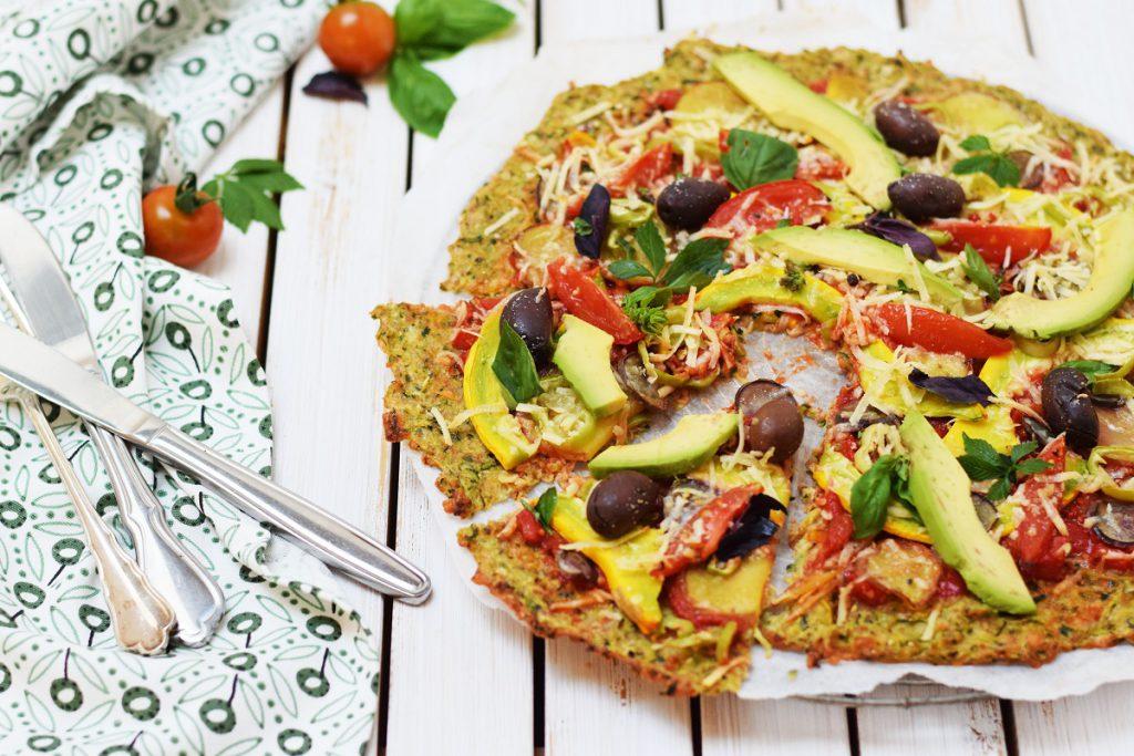 Zucchini Pizza - glutenfrei, vegetarisch, Low Carb