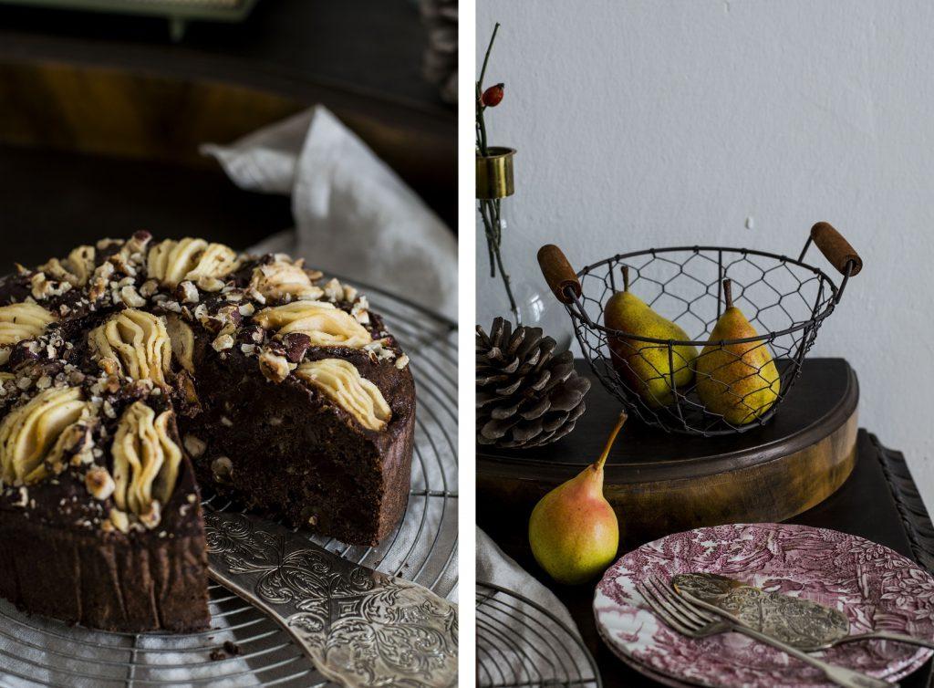 Schoko-Birnen-Kuchen-ohne Zucker