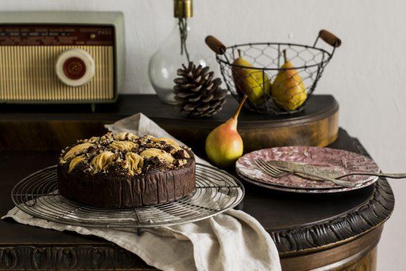 Zuckerfreier Schoko-Birnen-Kuchen