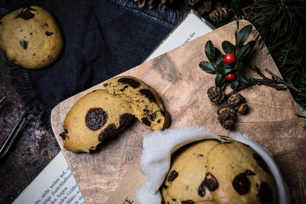 Gesunde Schoko-Cookies mit Dinkelmehl