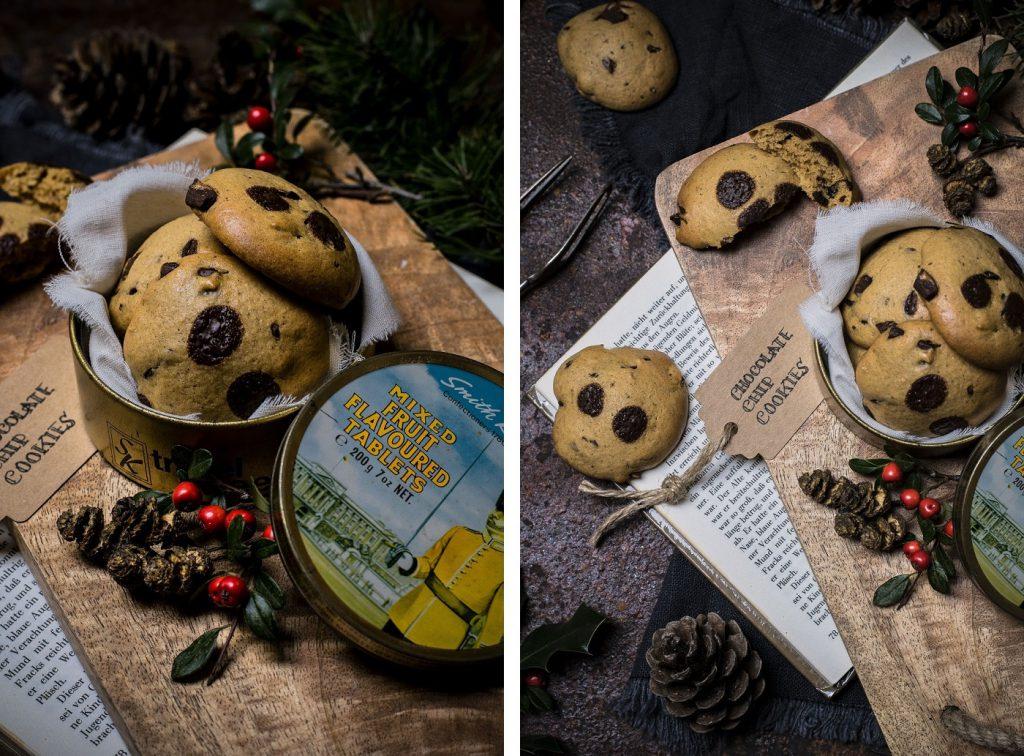 Gesunde Schokoladen-Cookies - außen knusprig, innen soft
