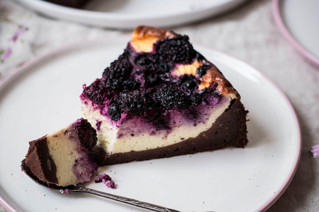 Rezept für einen gesunden Brownie-Cheesecake