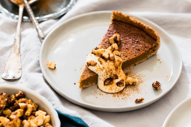 Pumpkin Pie mit Kürbisfüllung